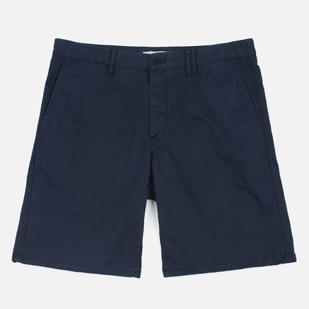 Norse Projects Aros Slim Light Twill Men`s Shorts Dark Navy