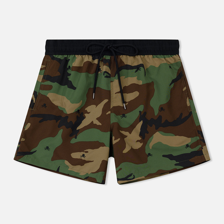 Мужские шорты Polo Ralph Lauren Embroidered Skull Traveller Swim Surplus Camo