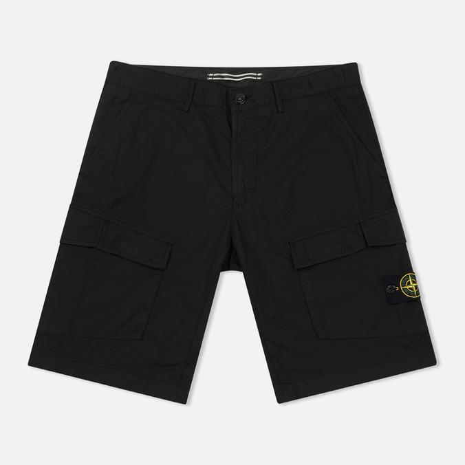 Мужские шорты Stone Island Bermuda Diagonal Pocket Black