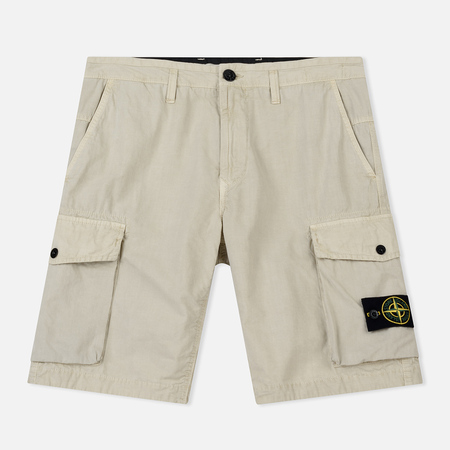 Мужские шорты Stone Island Bermuda Old Dye Treatment Beige