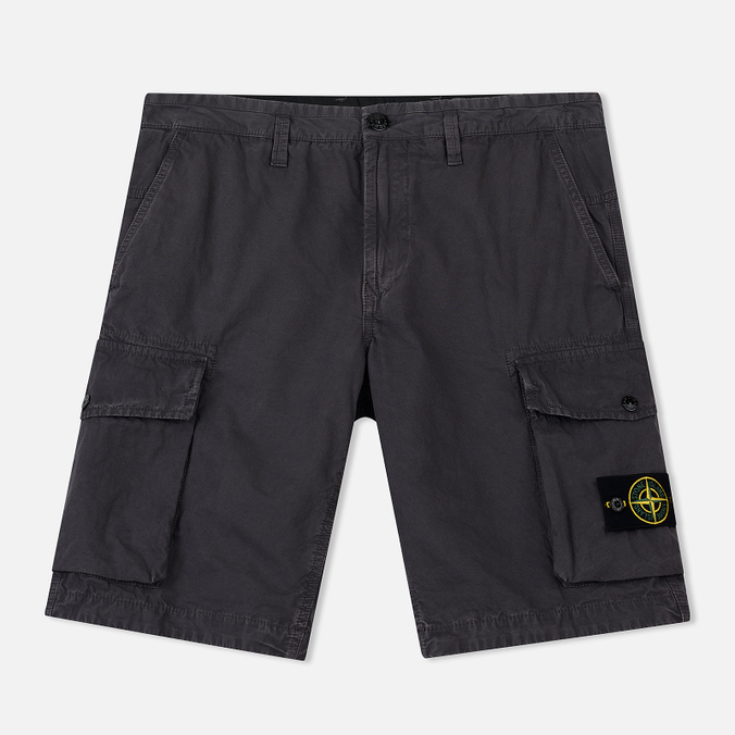 Мужские шорты Stone Island Bermuda Old Dye Treatment Blue Grey