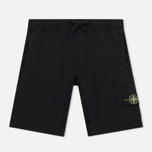 Мужские шорты Stone Island Cargo Pocket Garment Dyed Black фото- 0