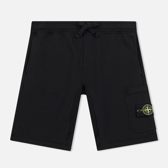 Мужские шорты Stone Island Cargo Pocket Garment Dyed Black