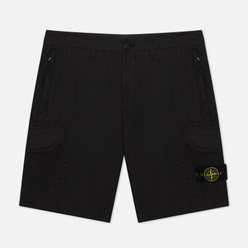 Мужские шорты Stone Island Cargo Stretch Cotton Gabardine Black