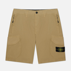 Мужские шорты Stone Island Cargo Stretch Cotton Gabardine Corteccia