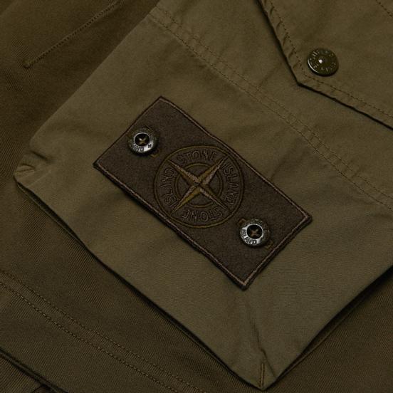 Мужские шорты Stone Island Ghost Piece Bermuda Military Green