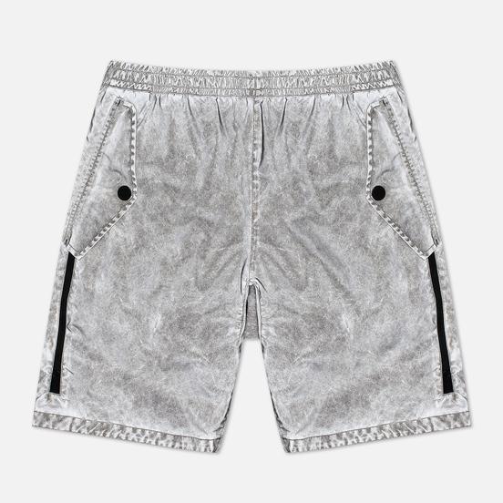 Мужские шорты Stone Island Plated Reflective Dust Colour Finish Grey