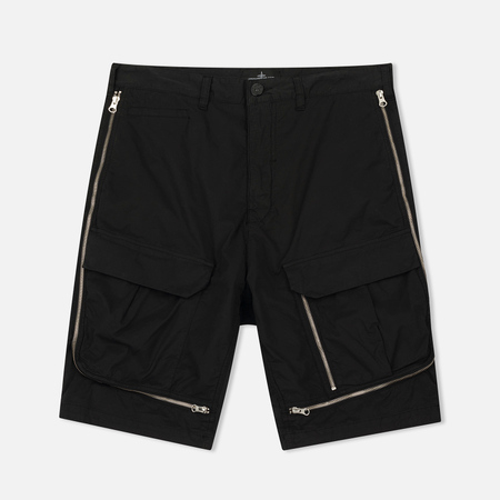 Мужские шорты Stone Island Shadow Project Vented Cargo Drop Pocket Black