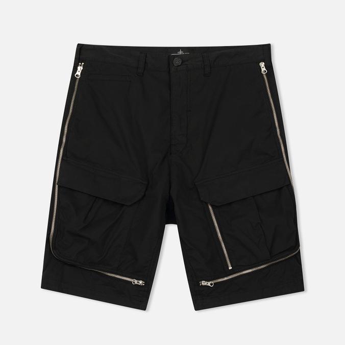 Мужские шорты Stone Island Shadow Project Vented Cargo Drop Pocket Black