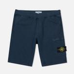 Мужские шорты Stone Island T.CO+OLD Fleece Bermuda Blue фото- 0