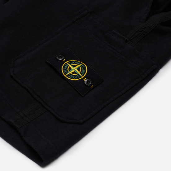 Мужские шорты Stone Island T.CO+OLD Fleece Regular Fit Navy Blue