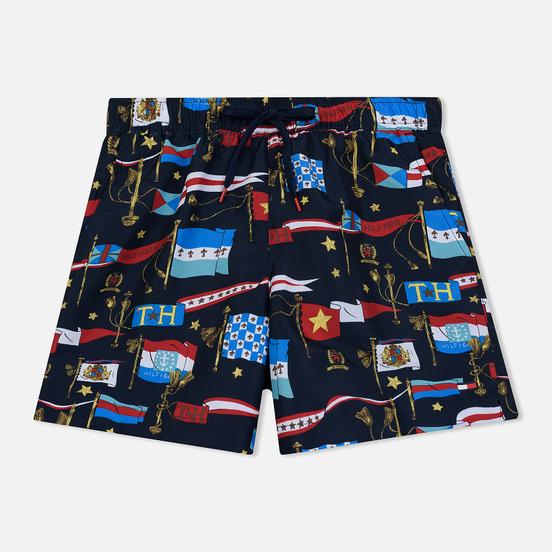 Мужские шорты Tommy Jeans Sailing Flag Medium Drawstring Flag Print Navy Blazer
