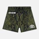 Мужские шорты Umbro x House Of Holland Snake Print Swim Green фото- 0