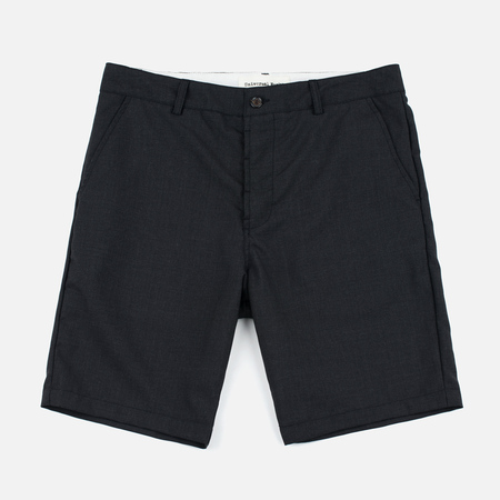 Universal Works Deck Tropical Wool Mix Men's Shorts Charcoal