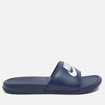 Мужские сланцы Nike Benassi JDI Midnight Navy/Windchill фото- 0