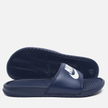 Мужские сланцы Nike Benassi JDI Midnight Navy/Windchill фото- 2