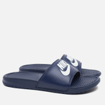 Мужские сланцы Nike Benassi JDI Midnight Navy/Windchill фото- 1