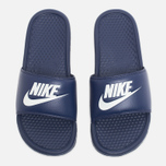 Мужские сланцы Nike Benassi JDI Midnight Navy/Windchill фото- 4