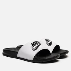 Мужские сланцы Nike Benassi JDI White/Black/Black