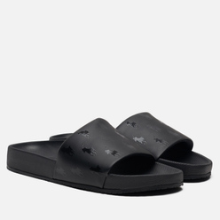 Мужские сланцы Polo Ralph Lauren All Over Print Pony Player Pool Slide Black