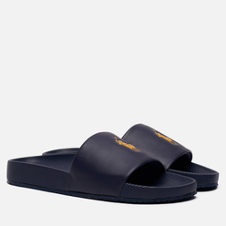 Мужские сланцы Polo Ralph Lauren Pony Player Pool Slide Newport Navy/Gold Polo Pony
