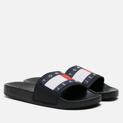 Мужские сланцы Tommy Jeans Flag Pool Black