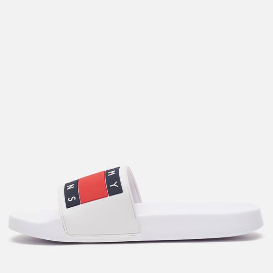 Мужские сланцы Tommy Jeans Flag Pool White