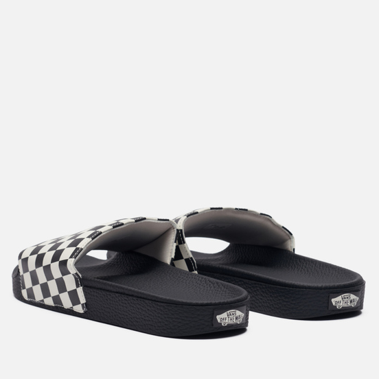 Мужские сланцы Vans Checkerboard Black/White