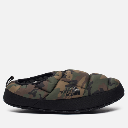 Мужские тапочки The North Face Nuptse Tent Mules III Black Forest/Woodland Camo