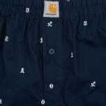 Мужские трусы Carhartt WIP Boxer Drop Cap Print Navy/White фото- 1