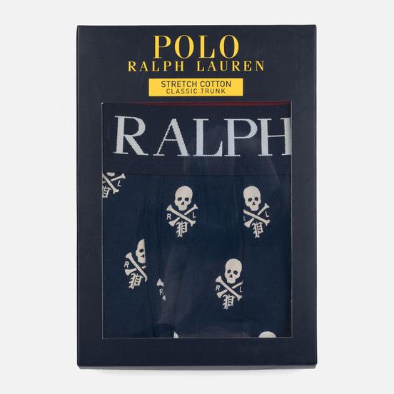 Мужские трусы Polo Ralph Lauren Single Print Trunk Fall Royal/All Over Skulls