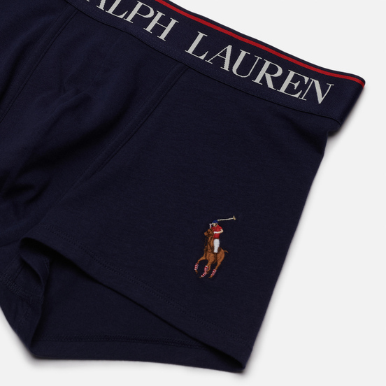 Мужские трусы Polo Ralph Lauren Single Trunk Embroidered Pony Player Cruise Navy/Multicolor Pony Player