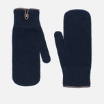 Universal Works Knitted Wool Men's Mittens Navy photo- 0