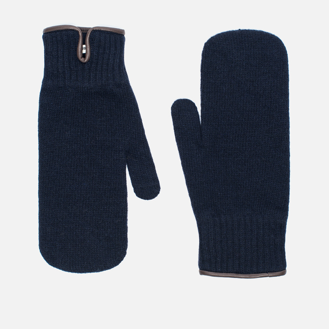 Universal Works Knitted Wool Men's Mittens Navy