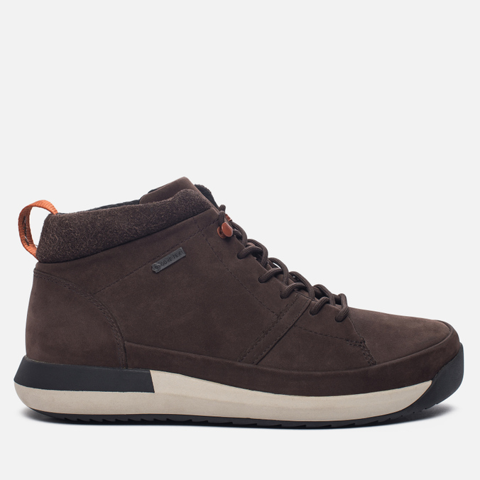Мужские зимние ботинки Clarks Originals Johto Hi Gore-Tex Nubuck Dark Brown