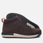 Мужские зимние ботинки Clarks Originals Johto Hi Gore-Tex Nubuck Dark Brown фото- 1
