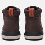 Мужские зимние ботинки Clarks Originals Johto Hi Gore-Tex Nubuck Dark Brown фото- 3