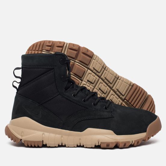 Мужские зимние ботинки Nike SFB 6 NSW Leather Black/Mushroom