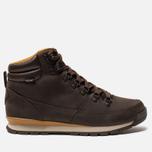 Мужские зимние ботинки The North Face Back To Berkeley Redux Leather Chocolate Brown/Golden Brown фото- 0