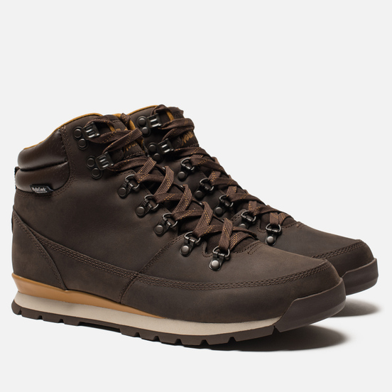 Мужские зимние ботинки The North Face Back to Berkeley Redux Leather Chocolate Brown/Golden Brown