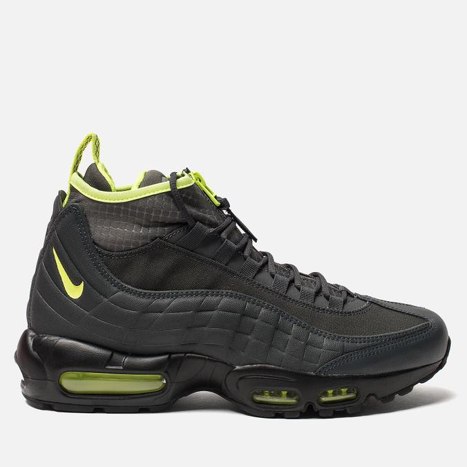 Мужские зимние кроссовки Nike Air Max 95 Sneakerboot Anthracite/Volt/Dark Grey/Black