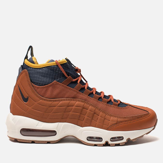 8769c24354d4 Мужские зимние кроссовки Nike Air Max 95 Sneakerboot Dark Russet Thunder  Blue Light Bone ...