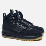 Мужские зимние кроссовки Nike Lunar Force 1 Duckboot Dark Obsidian фото- 2