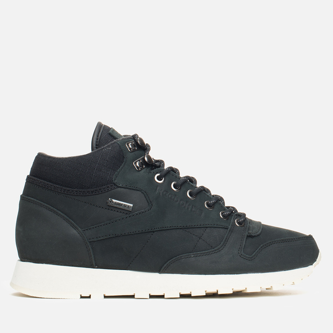 Зимние кроссовки Reebok Classic Leather Mid Gore-Tex Black/Paper White/Olive/Shark