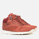 Зимние кроссовки Reebok Classic Leather Mid Gore-Tex Terra Red/Paper White фото- 1