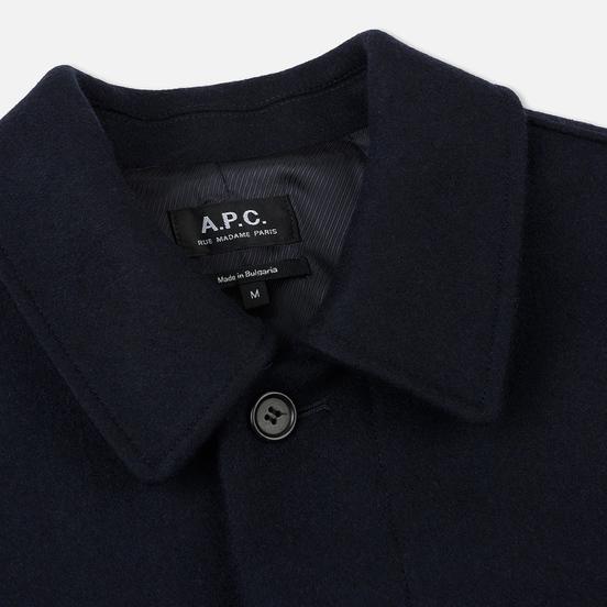 Мужское пальто A.P.C. Mac Auster Heather Marine