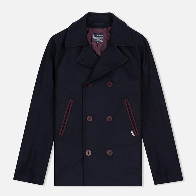 Мужское пальто Armor-Lux Bicolour Peacoat Rich Navy/Penombre