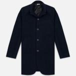 Мужское пальто Blue Blue Japan J5420 Hairly Fleece 4 Button Navy фото- 0