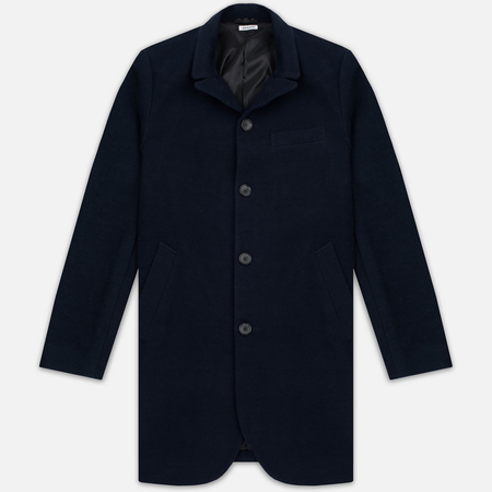 Мужское пальто Blue Blue Japan J5420 Hairly Fleece 4 Button Navy