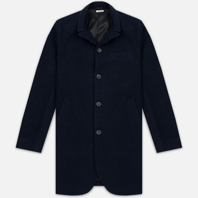 Мужское пальто Blue Blue Japan J5420 Hairly Fleece 4 Button Navy
